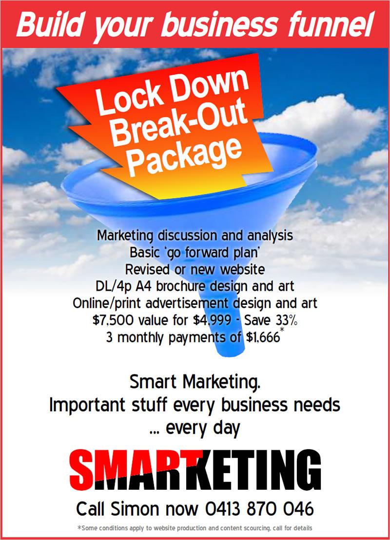 Smart marketing Lock down break-out package